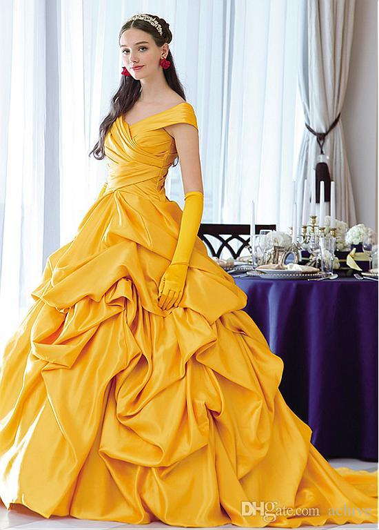 Vintage Gold Quinceanera Dresses 2020 Pleats Ruffles A Line Sweet 15 Dress Long Prom Party Dresses Masquerade Debutante Gowns Sexy USA UK Blue And ...