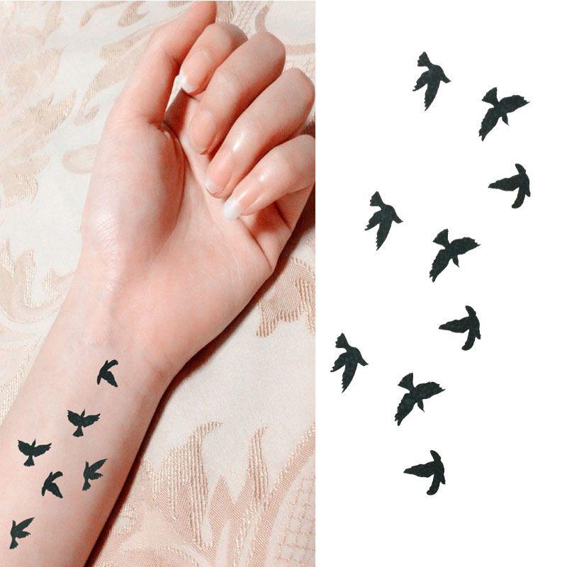 2018 Desfile De Muñeca De Moda Tatuaje Tatuaje De Pájaro Falso