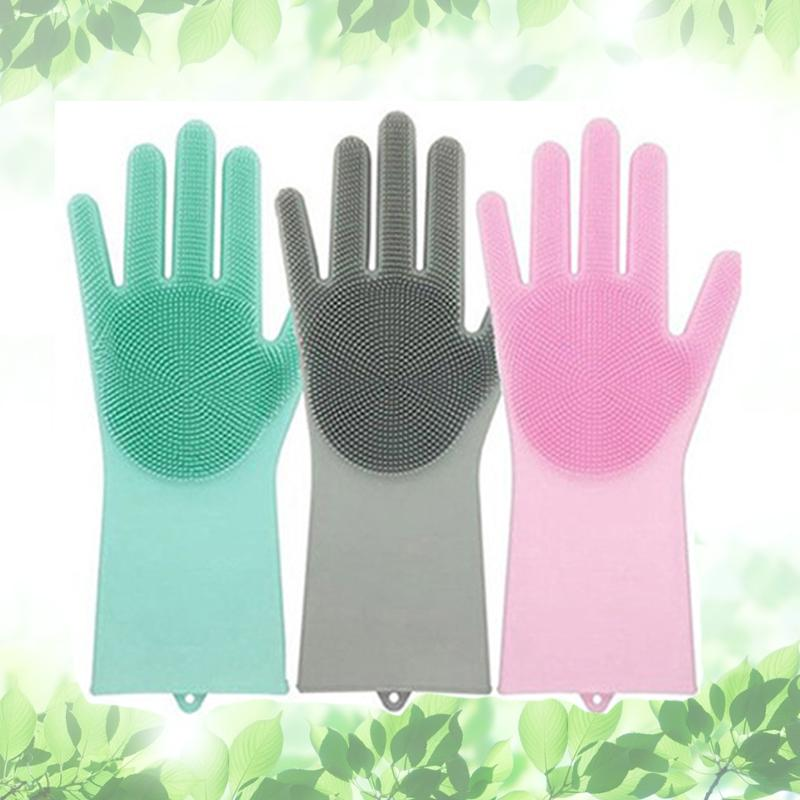 kitchen gloves large round table 2019 silicone scrubbing cleaning glove magic brush dishwashing for home car pet grade dish washing mitten tools from nasturtium