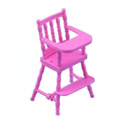 Baby Toy High Chair Set Pink Fluffy Children Nursery For Doll S House Girls Furniture Accessories Dolls With Accessory