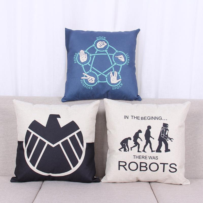 fashion the big bang theory pattern decorative pillowcase cotton linen cushion cover throw pillow covers cushion covers pillow cover body pillow cases from