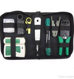 rj45 rj11 rj12 cat5 cat5e portable lan network repair tool kit utp rj11 lan network tool set kit cable tester crimper plug plier wire [ 1001 x 1001 Pixel ]