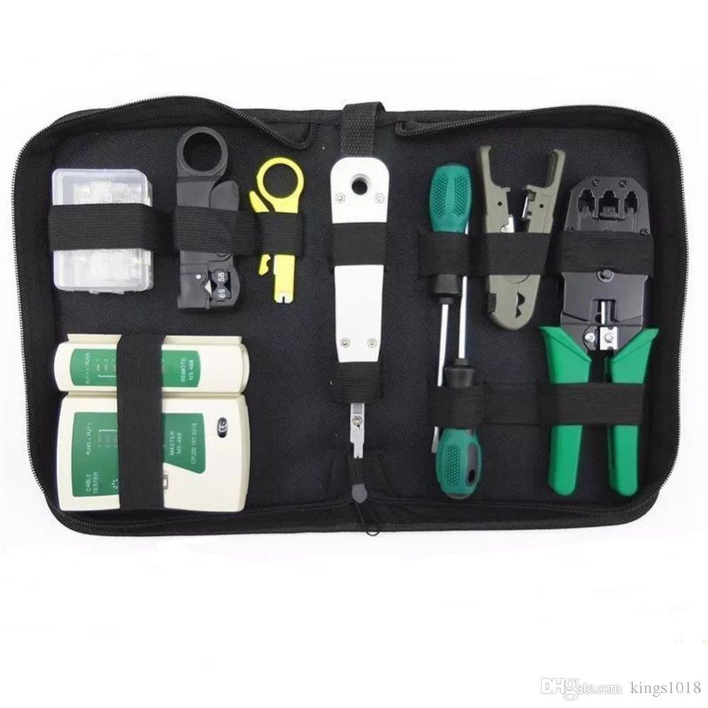 medium resolution of rj45 rj11 rj12 cat5 cat5e portable lan network repair tool kit utp rj11 lan network tool set kit cable tester crimper plug plier wire