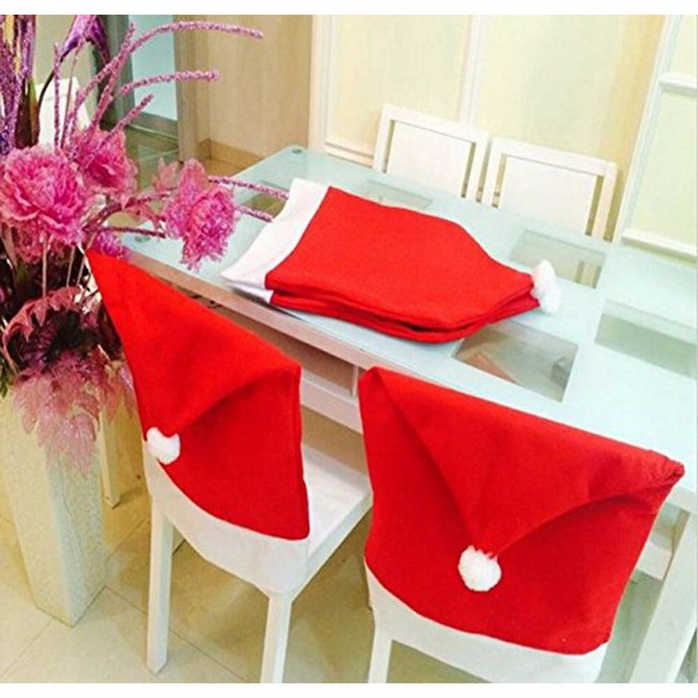 luxury christmas chair covers stand definition 50 60cm santa red hat merry decor dinner xmas cap sets home room indoor decaorative decorations make