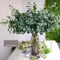 Artificial Plants For Living Room Inexpensive Rugs 2019 Eucalyptus Leaves Plastic Flowers Fake Decoration Grass From Suozhi1994 34 91 Dhgate Com