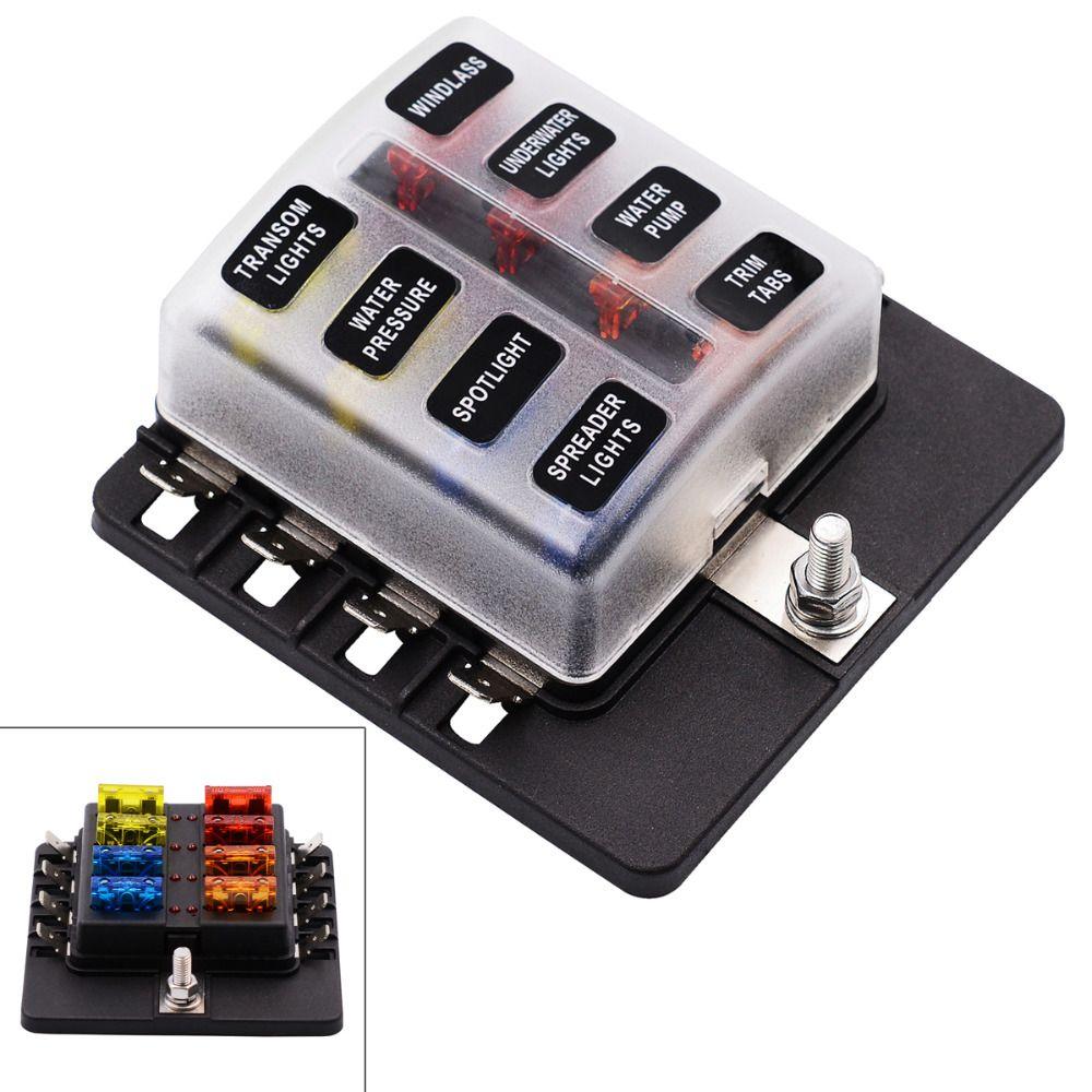medium resolution of blade fuse box holder max 32v plastic cover 8 way blade fuse box holder m5 stud
