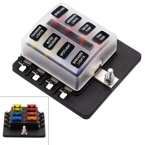 small resolution of blade fuse box holder max 32v plastic cover 8 way blade fuse box holder m5 stud