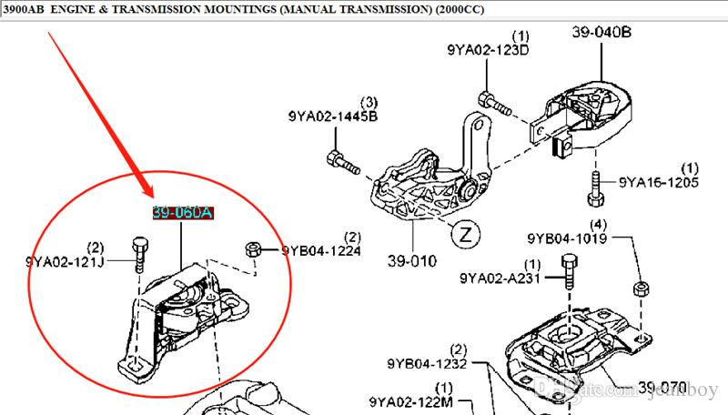 2020 Right Side Engine Mounting Rubber No.3 For Mazda 3