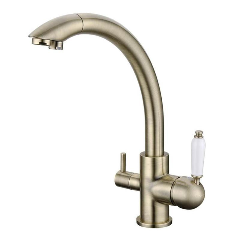 antique bronze kitchen faucet custom island 2019 2017 wholesale new arrival victoria vintage drinking filtered sink mixer 3 way water filter tap from galry