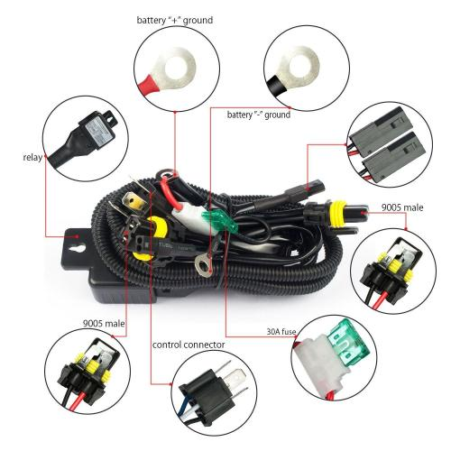small resolution of h4 hid relay harness hid xenon kit h4 3 h13 3 9004 3 9007 3 bixenon