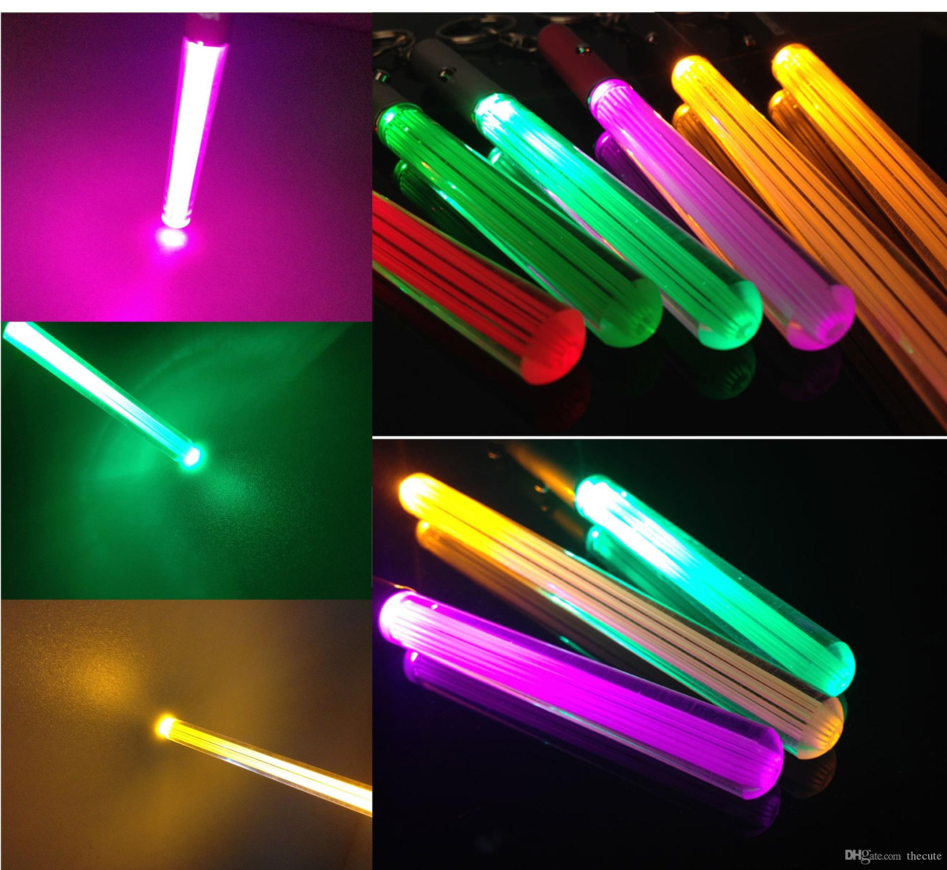 led flashlight stick keychain