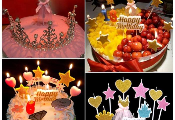 2019 Birthday Cake Candle Kids Gift Star Snow Party Supplies Cake