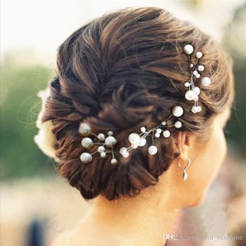 women wedding hair accessories bridal bridesmaid hairs accessories pearl headpiece hair pin hair jewelry accessories hot hair bun covers hair accessories