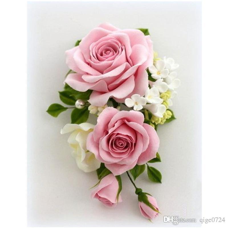 pink rose 5d diy