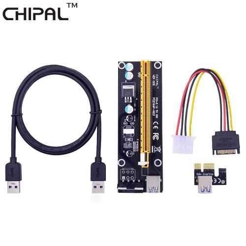 small resolution of chipal ver006 100cm pci express pci e 1x to 16x riser card extender usb 3 0 cable 15pin sata to 4pin ide molex power wire cables online computer cables