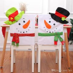Unusual Chair Covers Rocking Dimensions Hot 2 Style Cartoon Snowman Christmas Home Hotel Cover Decorations Lovers Victorian