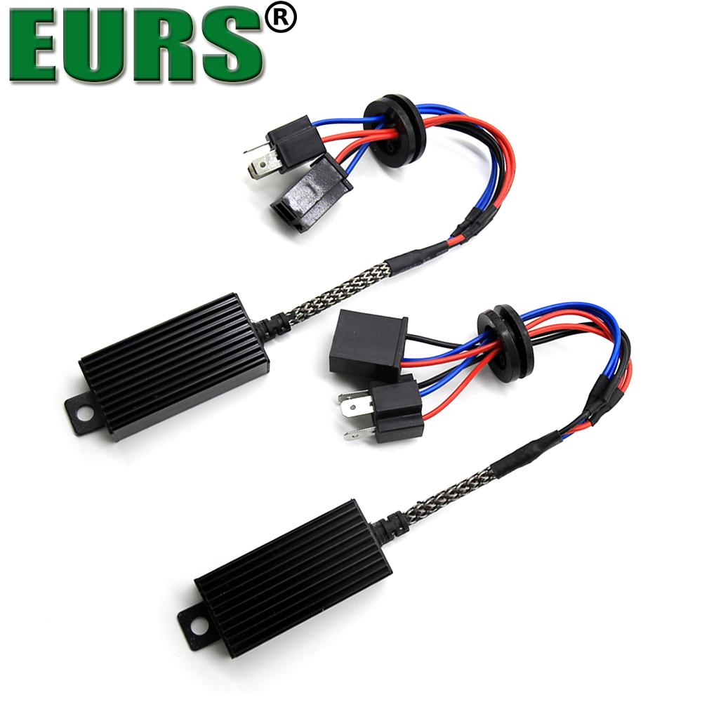 hight resolution of 2019 eurs h1 h4 h13 h7 h8 h11 hb3 9005 hb4 9006 led decoder resistor canbus harness adaptor for headlight bulbs light error free from niumou