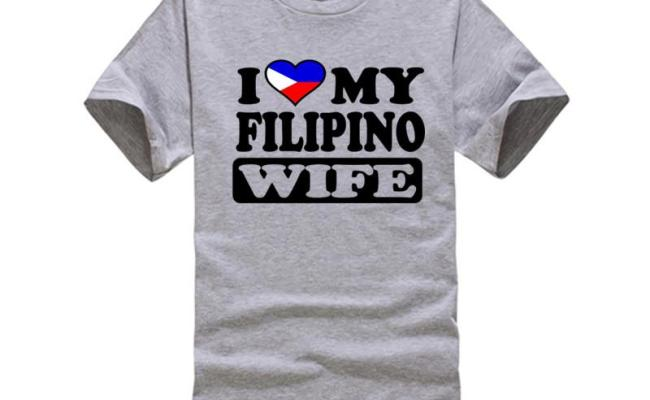 Mens Funny Cool Novelty Filipino Wife Philippines Flag