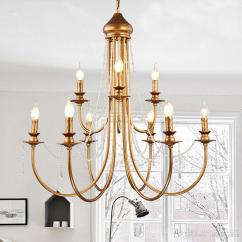 Living Room Lighting Fixtures Best Wall Pictures Modern Vintage Design Crystal E14 Ancient Gold Led Chandelier For Loft Staircase Bedroom Home Lamp Pendant Ceiling