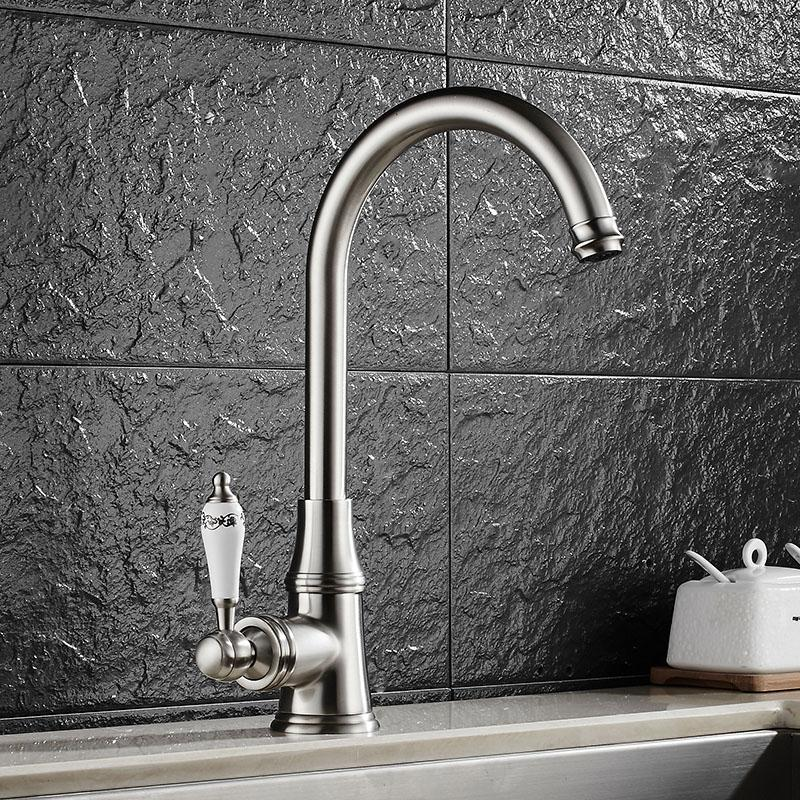 vintage kitchen sink slate appliances 2019 faucet cold and hot water crane brass 360 swivel antique mixer from shuishu 103 42 dhgate com