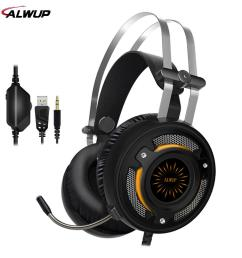 alwup 2 2m wired gaming headphone ps4 with mic gaming headset xbox one with led light headphones with microphone noise cancelling from aralia  [ 1000 x 1000 Pixel ]