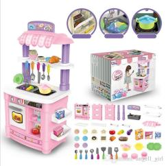 Toy Kitchen Sets Decorative Accessories Kids Simulation Set Toys With Mini Goods Role Playing Games Girls Online 161 68 Piece On Angell Girl S Store
