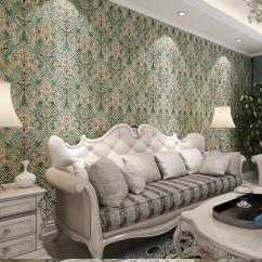 Best Color For Living Room Wallpaper Small Arrangements With Tv And Fireplace Luxury Gradient European Damask Decor Livingroom Cheap Photography Wedding Background Green Leaves