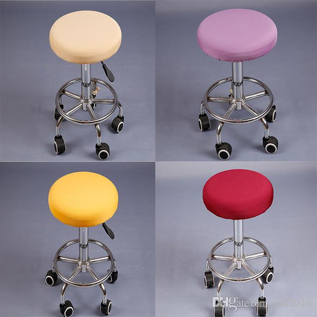 chair stool covers break room chairs round elastic stretch spandex bar barbershop cover home seat slipcover protector slipcovers for