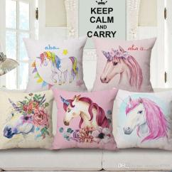 Baby Girl Chair Chairs And Ottoman Cartoon Unicorn Cushion Cover Room Decor Bed Throw Pillow Case Chaise Almofada Home Decorative Cojines Cheap Outdoor Seat Cushions Out Door