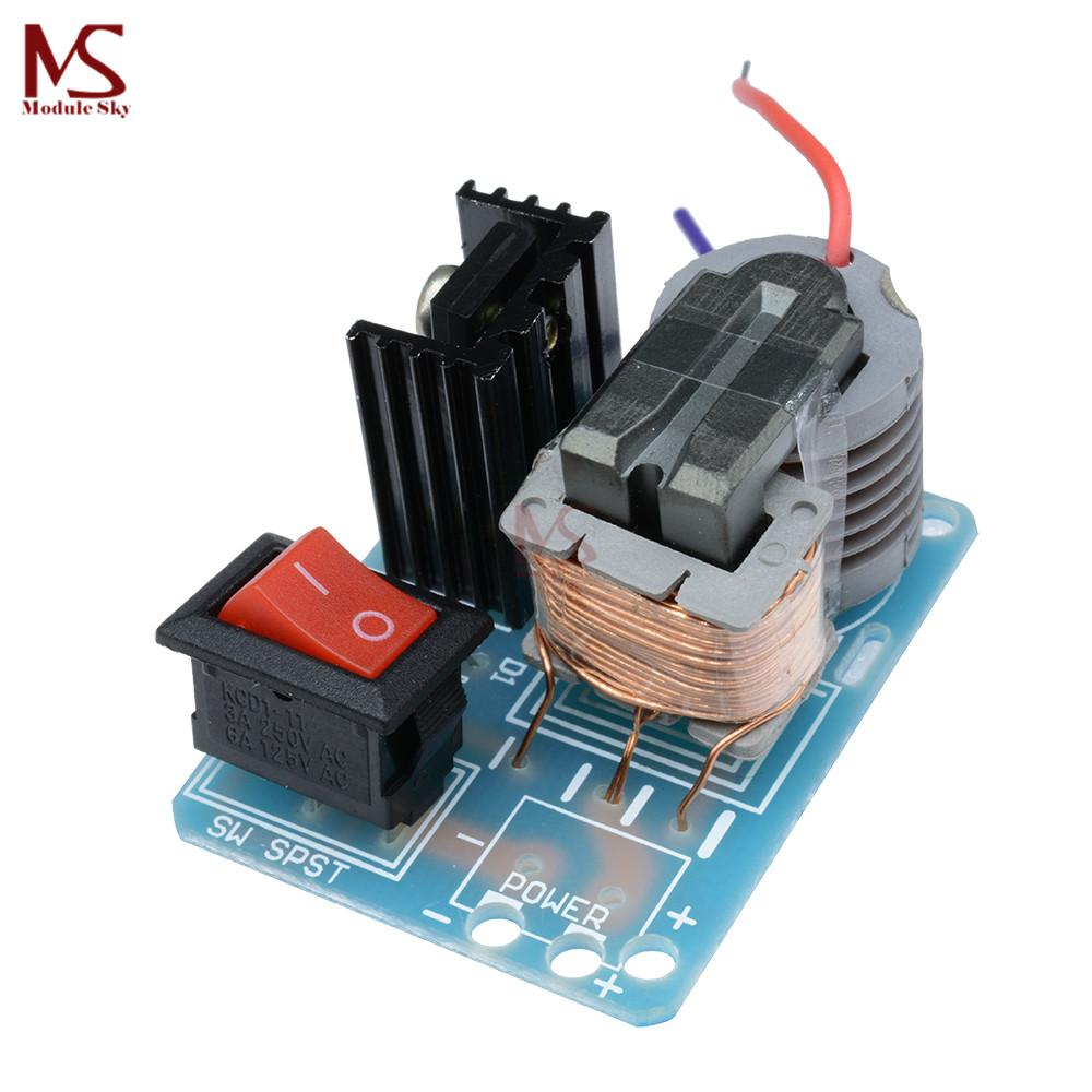 hight resolution of 2018 15kv high frequency dc high voltage arc ignition generator inverter boost step up 18650 diy