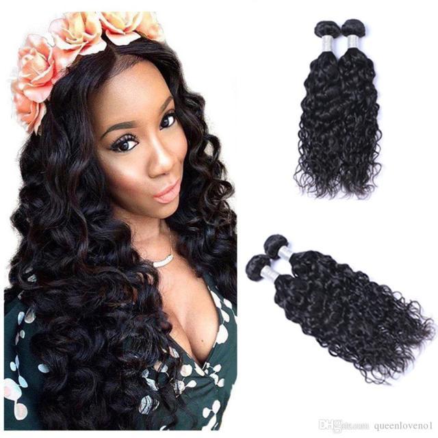 8a brazilian virgin human natural wave hair weave 100grams/piece body wavy hair natural black 2pcs/lot hair extensions with free shipping