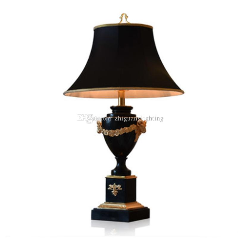 large table lamps for living room wooden arm chairs 2019 marble lamp black luxury villa hotel bedroom bedside classical from zhiguanglighting 683 42 dhgate