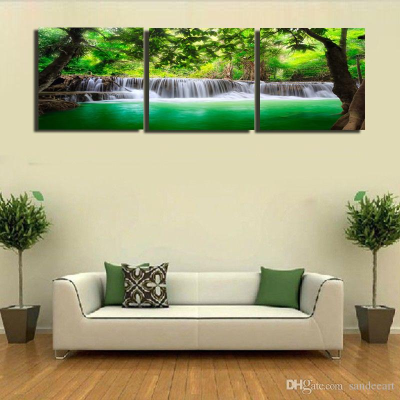 contemporary artwork living room colour scheme for 2019 framed unframed hot modern canvas wall art print painting landscape waterfall picture home decor abc245 from sandeeart