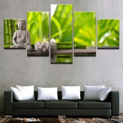 Canvas Prints For Living Room Wall Tiles Posters Art Framework Statue Of Buddha Lotus Candle Paintings Bamboo Pictures Home Decor Canada 2019 From Watchsaler