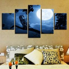 Modern Artwork For Living Room Beachy Ideas Prints Pictures Moon And Animal Owl Night View Canvas Painting Modular Poster Wall Art Framed Bedroom Home Decor Canada 2019 From Zhu793737893