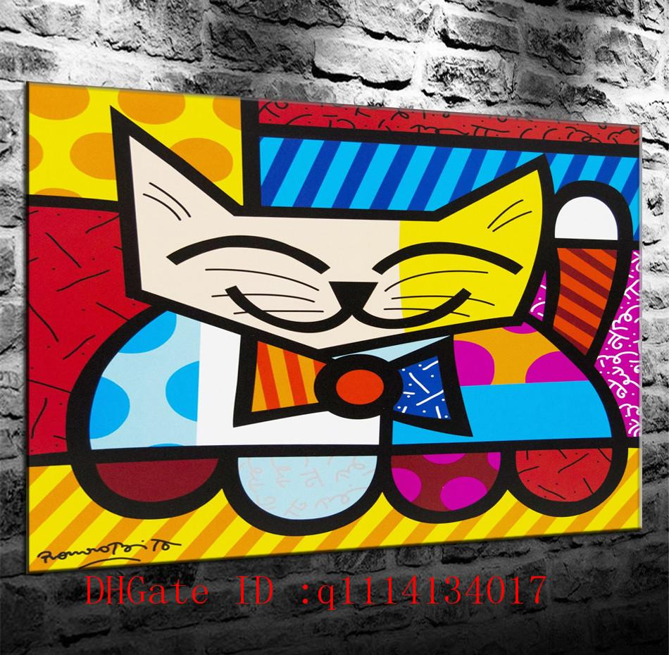 romero britto 36 canvas