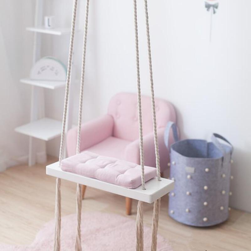 hanging chair for baby lounge umbrella stand 2019 wooden indoor small swing basket kindergarten knited swings garden children from herbertw 73 17 dhgate com