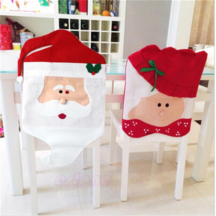 chair covers new year disc golf christmas decoration dining seat santa claus grandma cover for home party decor le105