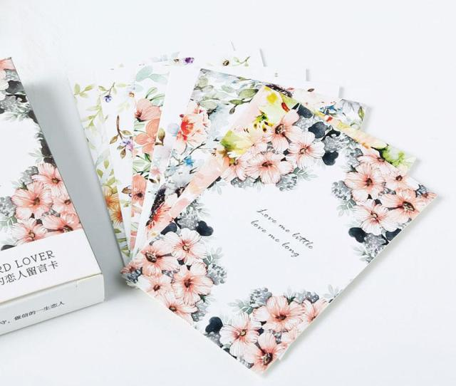 Box Elegant Bloom Flowers Creative Small Cards Greeting Card Postcards Message Card Holiday Universal Personalized Holiday Cards Personalized Holiday