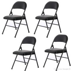 Black Padded Folding Chairs Commercial Office 2019 4 Fabric Chair Soft Seat Compact Steel Back Strong Dinning From Huangke18 62 31 Dhgate Com