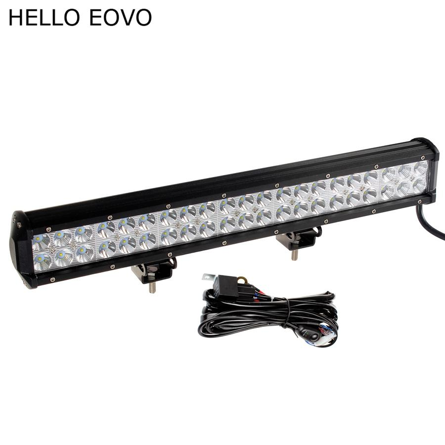 medium resolution of hello eovo 20 inch 126w led work light bar wiring kit for off road off road led working lights wiring kit 4x4