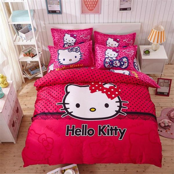 Kitty Cartoon Bedding Set Kids With Duvet