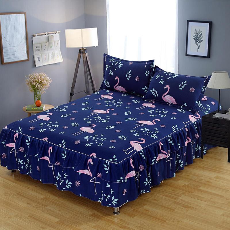 acheter parure de lit flamingo set de draps de lit twin full queen king size set de matelas taie d oreiller de protection 120 140 150 160 180x200cm de