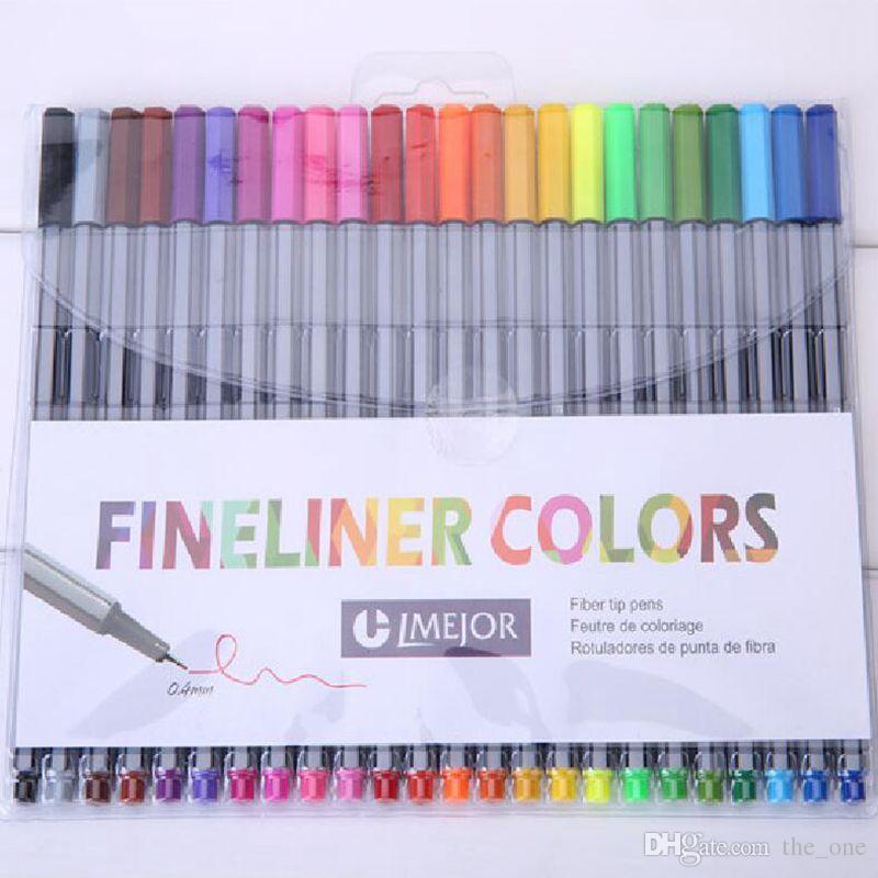 24 colors fineliners pens