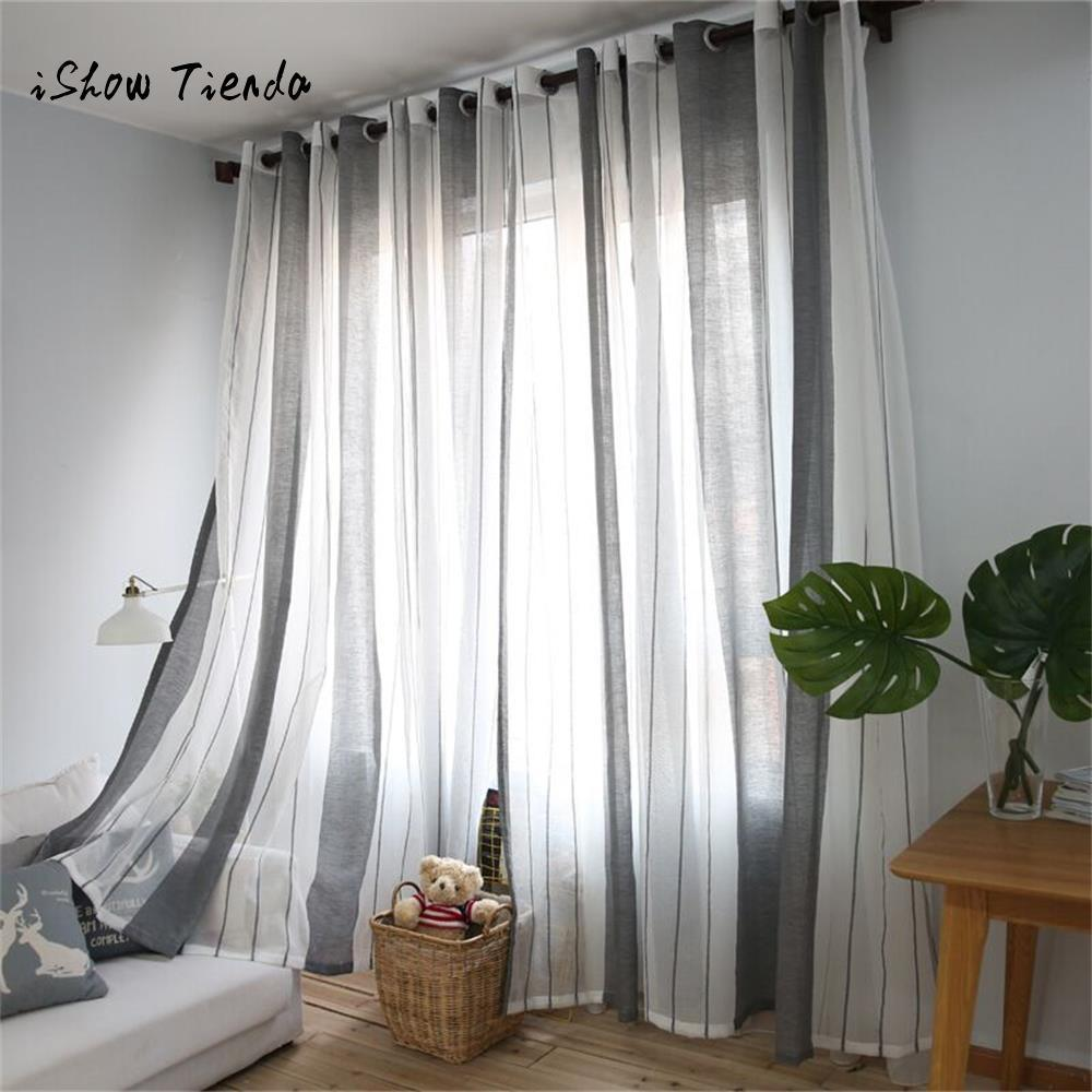 modern window treatments for living room casual ideas 2019 gray sheer curtain tulle treatment voile drape valance 1 panel fabric curtains cortina rideaux from kunnylight