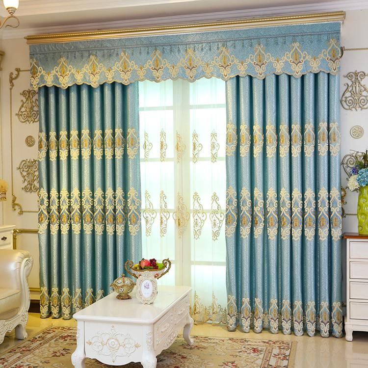 simple living room curtains types of flooring for 2019 curtain european luxury finished modern bedroom bay window new embroidered floor blackout from hezekiah