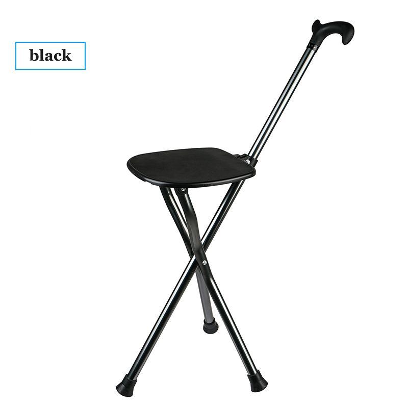 walking stick chair wheelchair cat koraman rollator for elder old man cane stool steady bracket multifunctional bastone anziani aids 8111 carved sticks black