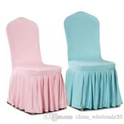 Aqua Dining Room Chair Covers Graco Tot Loc Factory Direct Colour Lycra Cover With Skirt All Around The Bottom Spandex For Wedding Party Decoration Aji 653 Slipcovers