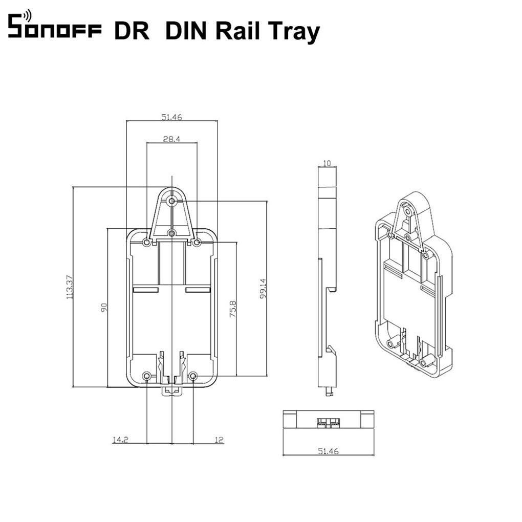 Sonoff DR DIN Rail Tray Adjustable Mounted Rail Case