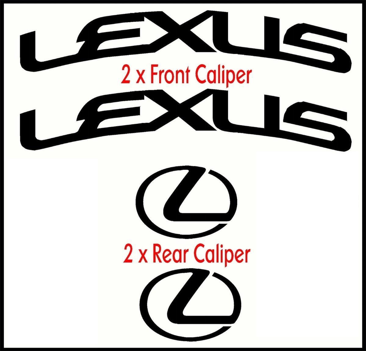 Brake Caliper Stickers Lexus Satu Sticker